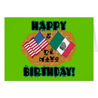 Cumpleaños feliz de Cinco de Mayo Tarjeta De Felicitación