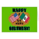 Cumpleaños feliz de Cinco de Mayo Tarjetas