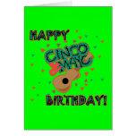 ¡Cumpleaños feliz de Cinco de Mayo! Tarjetón