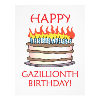 ¡Cumpleaños feliz de Gazillionth! Plantilla De Membrete