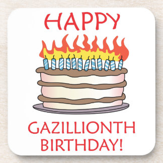 ¡Cumpleaños feliz de Gazillionth! Posavaso