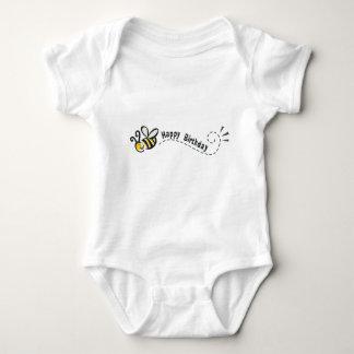 ¡Cumpleaños feliz de la abeja! Body Para Bebé