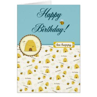 ¡Cumpleaños feliz de la abeja! Felicitaciones
