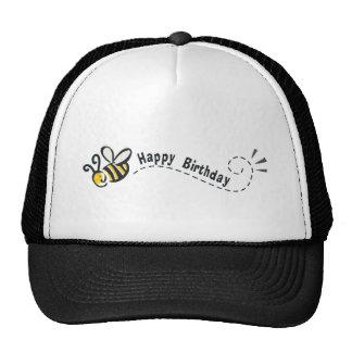 ¡Cumpleaños feliz de la abeja! Gorras De Camionero