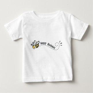 ¡Cumpleaños feliz de la abeja! Playera De Bebé