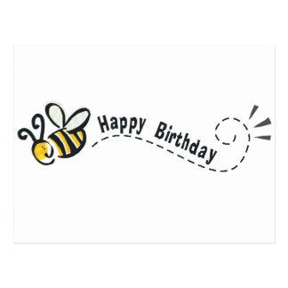 ¡Cumpleaños feliz de la abeja! Postales