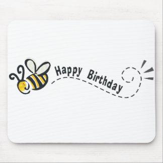¡Cumpleaños feliz de la abeja! Tapetes De Raton