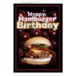 Cumpleaños feliz de la hamburguesa por Valxart Felicitación