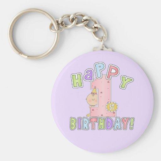Cumpleaños feliz de los chicas 1r llavero