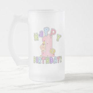 Cumpleaños feliz de los chicas 1r taza