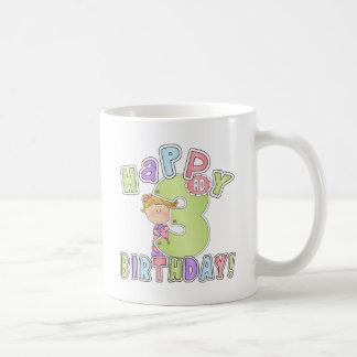Cumpleaños feliz de los chicas 3ro taza