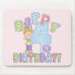 Cumpleaños feliz de los chicas 4to tapetes de ratón