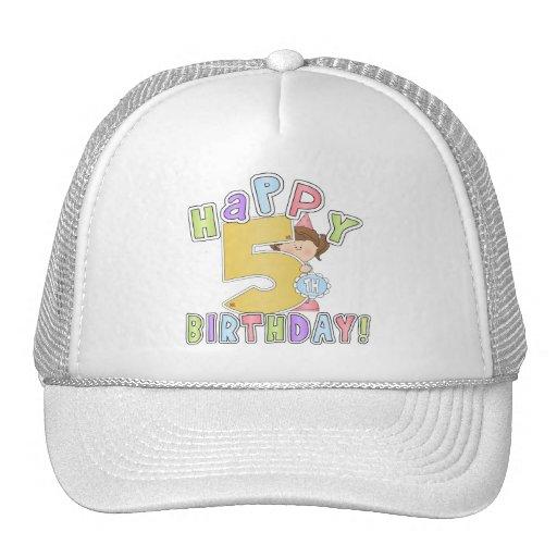 Cumpleaños feliz de los chicas 5to gorros