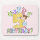 Cumpleaños feliz de los chicas 5to alfombrilla de ratón