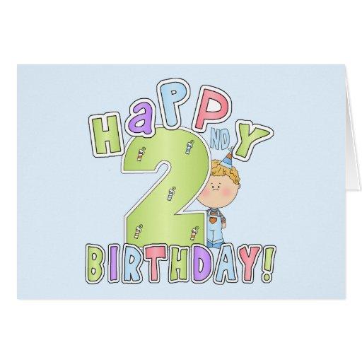 Cumpleaños feliz de los muchachos 2do tarjeta de felicitación