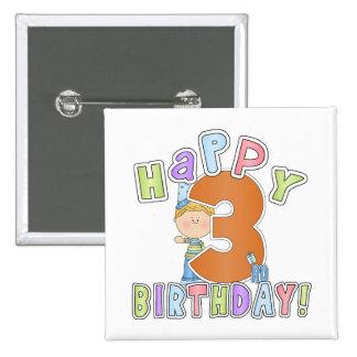 Cumpleaños feliz de los muchachos 3ro pins