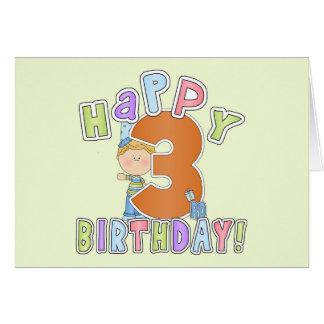 Cumpleaños feliz de los muchachos 3ro tarjetón