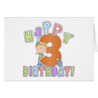 Cumpleaños feliz de los muchachos 3ro tarjeton