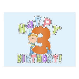 Cumpleaños feliz de los muchachos 3ro postal