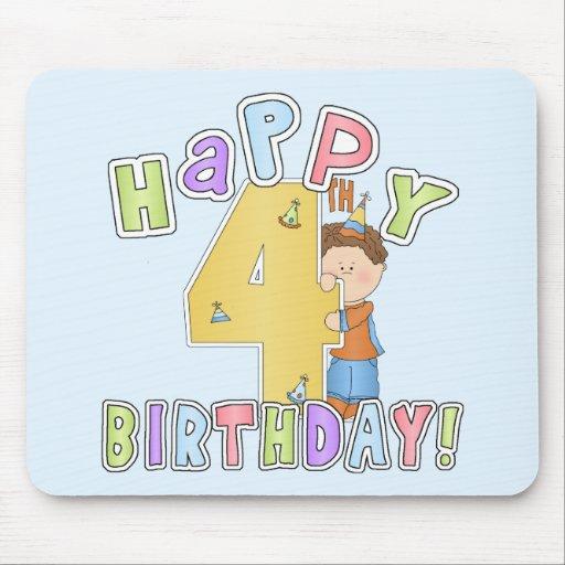 Cumpleaños feliz de los muchachos 4to tapete de ratón