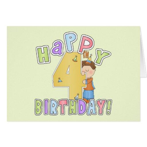 Cumpleaños feliz de los muchachos 4to tarjeton
