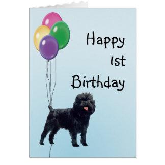 Cumpleaños feliz del Affenpinscher 1r Tarjeta De Felicitación