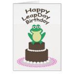 Cumpleaños feliz del día de salto tarjeta