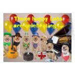 Cumpleaños feliz del laboratorio tarjeton