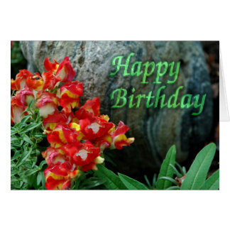 Cumpleaños floral de la roca tarjeta de felicitación