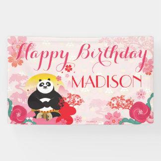 Cumpleaños floral rosado de la panda el   de Kung Lona