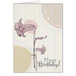 Cumpleaños floral rosado tarjetas