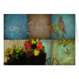 CUMPLEAÑOS - flores de la madre patria Tarjeta