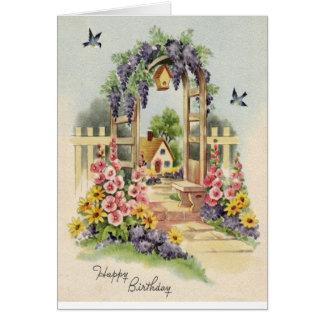 ¡Cumpleaños florido feliz! Tarjeta De Felicitación