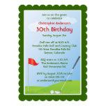 Cumpleaños Golfing de la bola y de la bandera del Invitación Personalizada