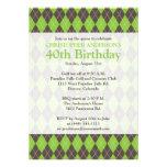 Cumpleaños Golfing del golf verde de Brown de la t