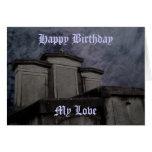 Cumpleaños gótico divertido del cementerio
