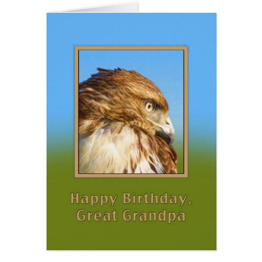 Cumpleaños, gran abuelo, halcón Áspero-legged Tarjeta