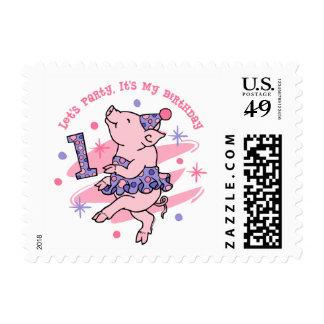 Cumpleaños guarro del tutú 1r timbres postales