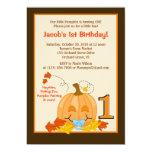 Cumpleaños Halloween 5x7 del bebé de la calabaza Invitación 12,7 X 17,8 Cm