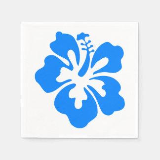 Cumpleaños hawaiano de Luau de la flor del hibisco Servilleta Desechable