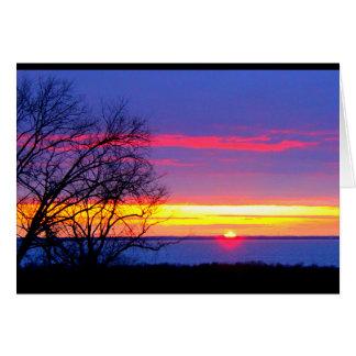 Cumpleaños hermoso de la salida del sol a la tarjeta de felicitación