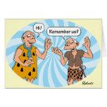 Cumpleaños: Humor de los hombres de las cavernas Felicitacion