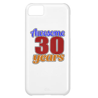 Cumpleaños impresionante 30 funda para iPhone 5C