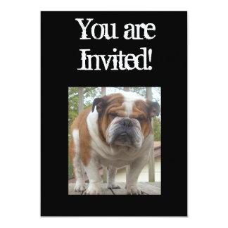 Cumpleaños inglés fresco de la invitación del dogo