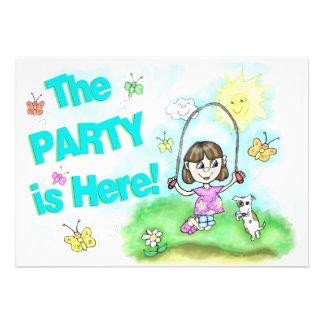 Cumpleaños invitación del fiesta de la niña