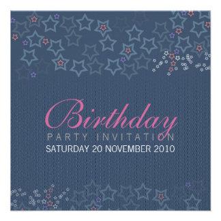 Cumpleaños Invitationz de las superestrellas