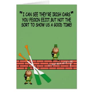 Cumpleaños irlandés hilarante felicitacion