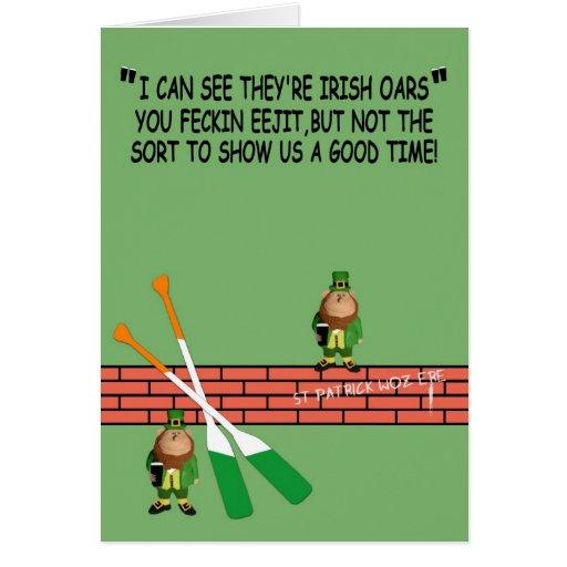 Cumpleaños irlandés hilarante tarjeta de felicitación