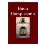 """CUMPLEAÑOS ITALIANO DE """"BUON COMPLEANNO"""" FELICITACION"""