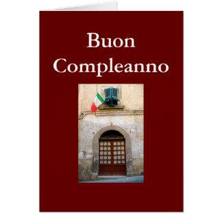 """CUMPLEAÑOS ITALIANO DE """"BUON COMPLEANNO"""" TARJETA DE FELICITACIÓN"""